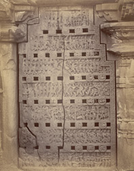 Richly-carved, perforated stone window, Narsapur 10032618